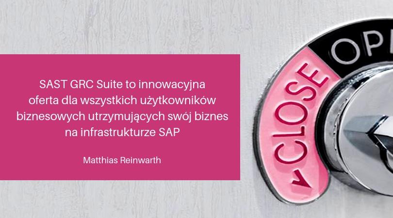 sast toinnowacyjna oferta dlawszystkich użytkowników utrzymujących swój biznes nainfrastrukturze SAP