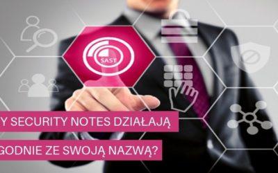 CzySecurity Notes działają zgodnie zeswoją nazwą?